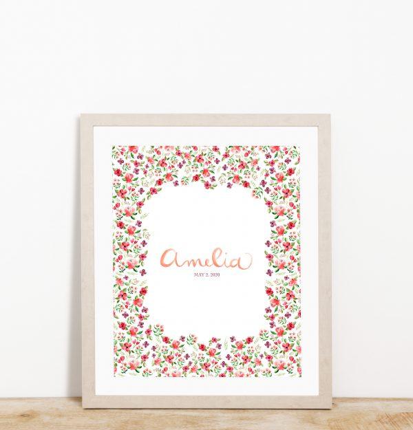 Calligraphy name - The Spaniel Studio